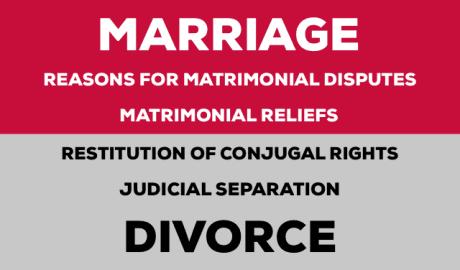 Matrimonial Reliefs, Judicial Separation, Divorce etc
