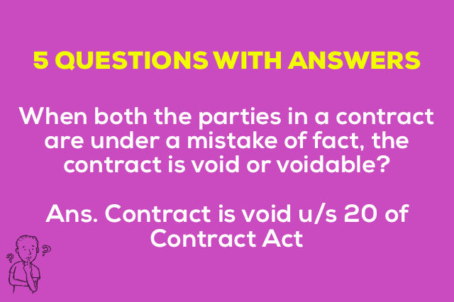 Mistake of Fact Contract