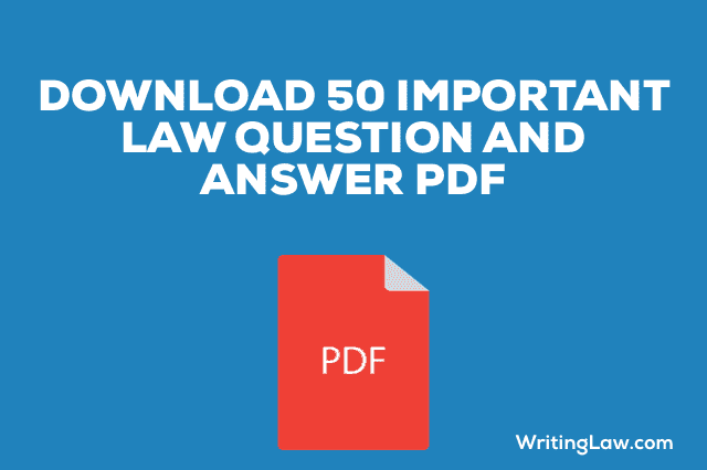 Download Important Law Question and Answer PDF