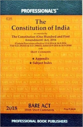 Constitution of India Bare Act by Professional
