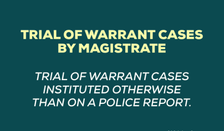 Trial of Warrant Cases by Magistrate