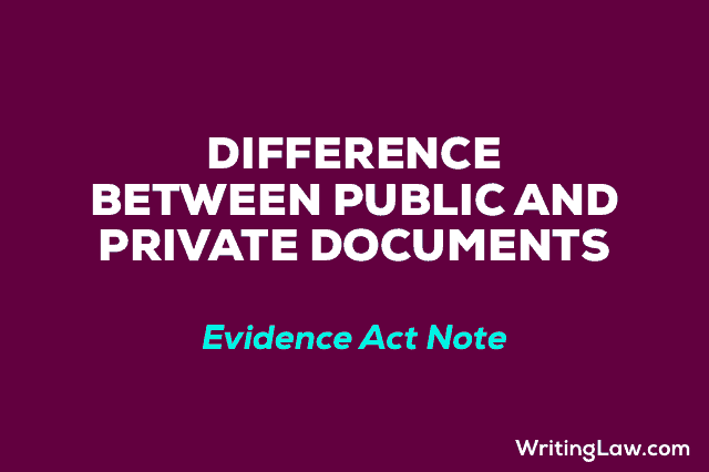 Difference between Public and Private Documents