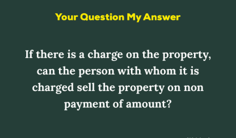 Charge on Property Meaning