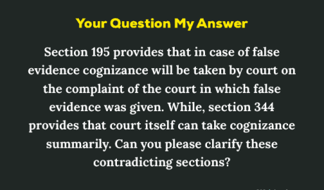 Section 195 CrPC Explanation of a Confusion