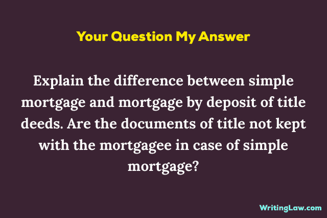 Simple Mortgage Meaning