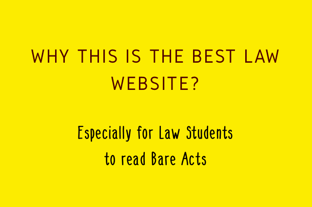 The best law website in India