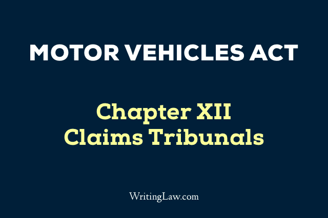 Motor Vehicles Act Chapter 12
