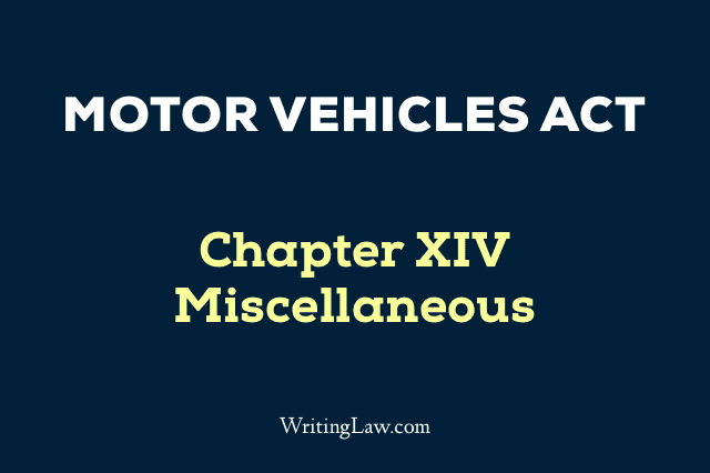 Motor Vehicles Act Chapter 14