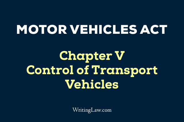 Motor Vehicles Act Chapter 5