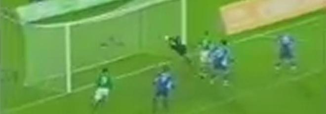 Kevin Doyle scores for Ireland against Slovakia