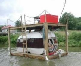 If the flood ever comes to Longford... one man has the Ark built... and its for sale on DoneDeal...