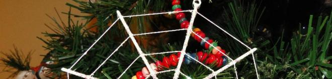 Spiders Web on the Christmas Tree