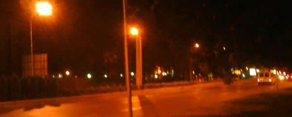 Skopje city at night