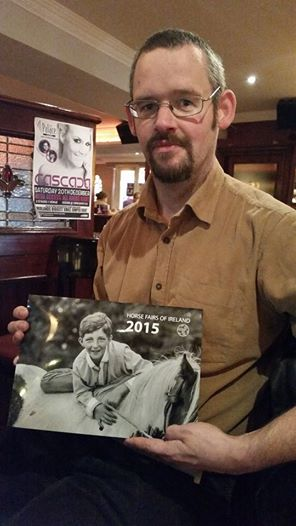 Tomas with the 2015 calender from Horse Fairs of Ireland