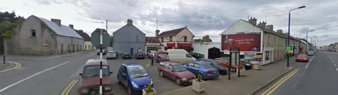 The bus stop in Kilcormac in Offaly