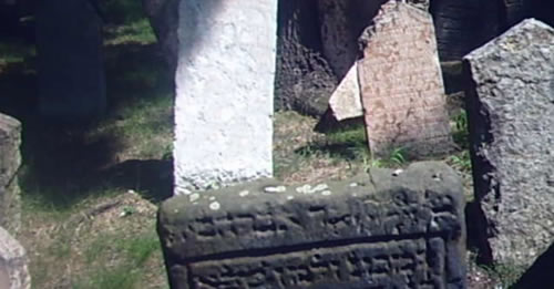 Graves in the grounds of the Pinkas Synagogue in Prague