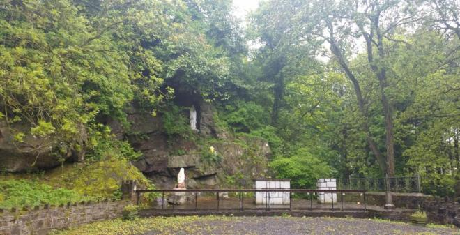 Grotto at Granard where Ann Lovett had her baby son that died after whom she passed away