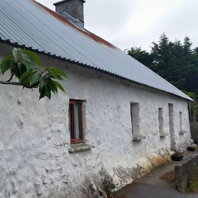 Old Cottage in Oranmore - built with peasent hands, with no engineers, its was build true: and stands where many houses designed and built by engineers has fallen...