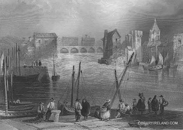 Claddagh in Galway. Image from Library Ireland - http://www.libraryireland.com/SceneryIreland/2-XI-2.php