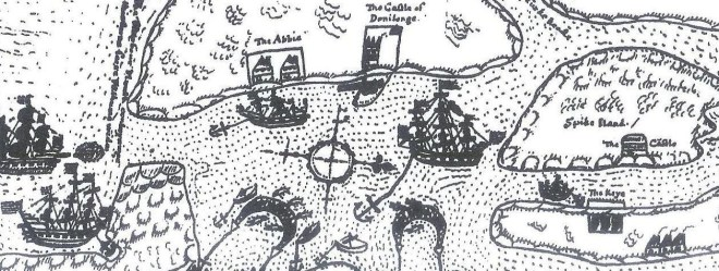 Map of Baltimore in Cork from 1630