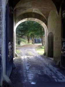 In this archway the three Republican prisoners were executed by Free State forces at Birr Castle