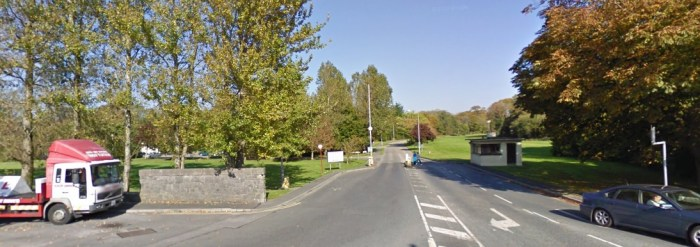 Merlin Park Hospital in Galway - 400 yards walk to the road to smoke - many of whom are old and infirm on their feet