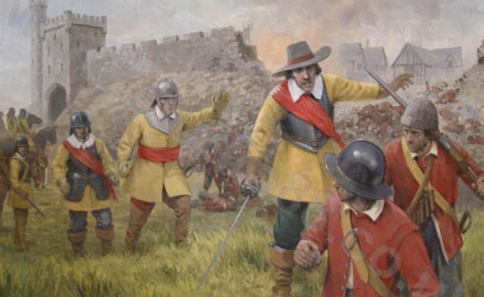 Siege of Clonmel 1650 - Original Painting by Graham Turner
