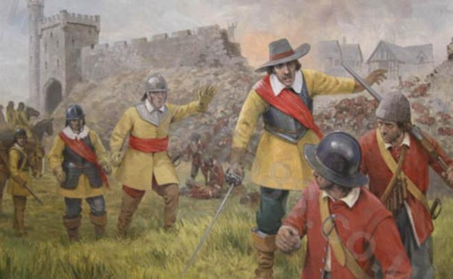 Siege of Clonmel 1650 - Original Painting by Graham Turner