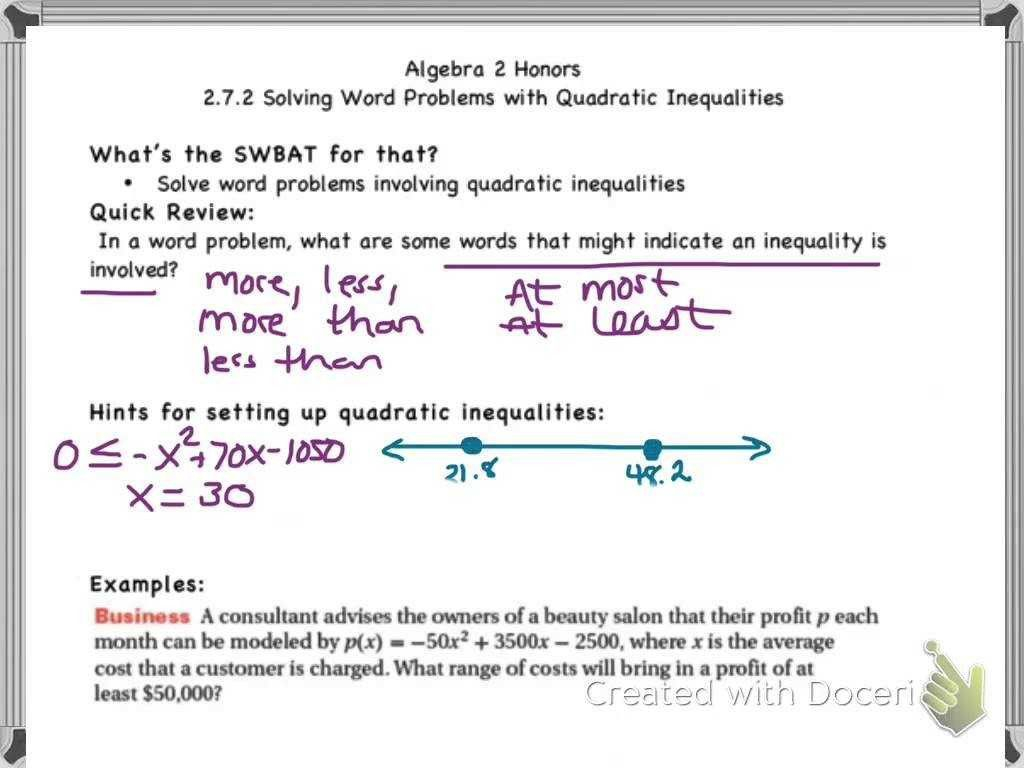 Writing Inequalities From Word Problems Worksheet 6th