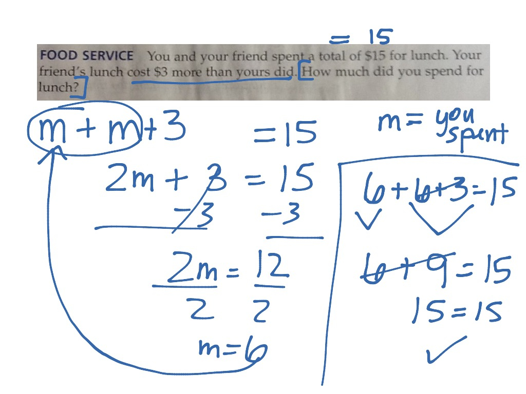 Writing And Solving Two Step Equations Worksheet