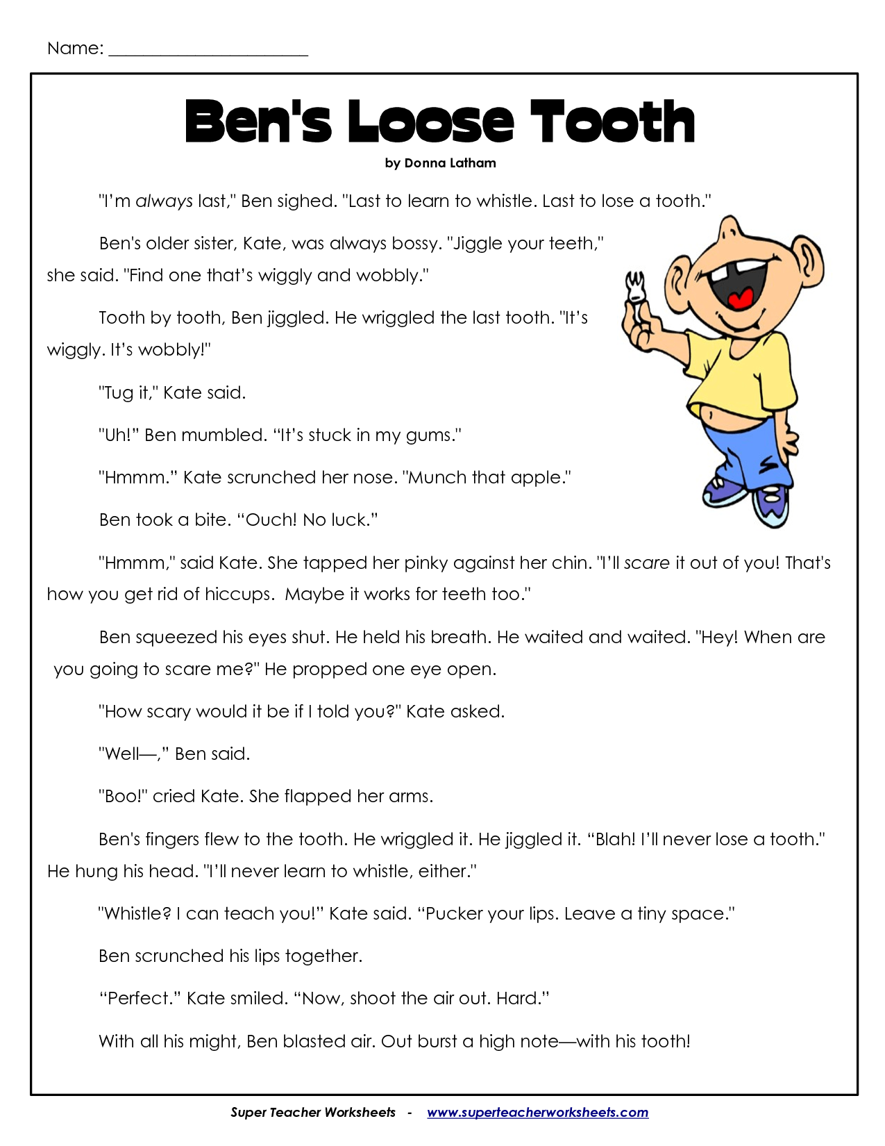 3rd Grade Reading Writing Worksheets