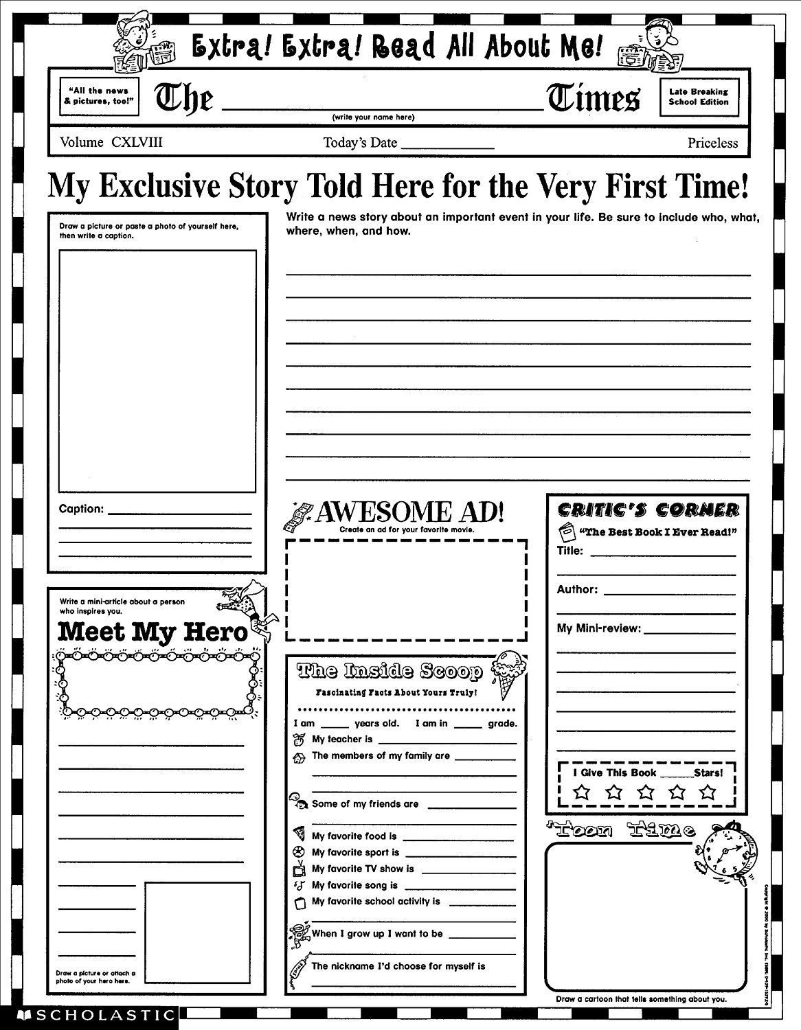 Yearbook Caption Writing Worksheets
