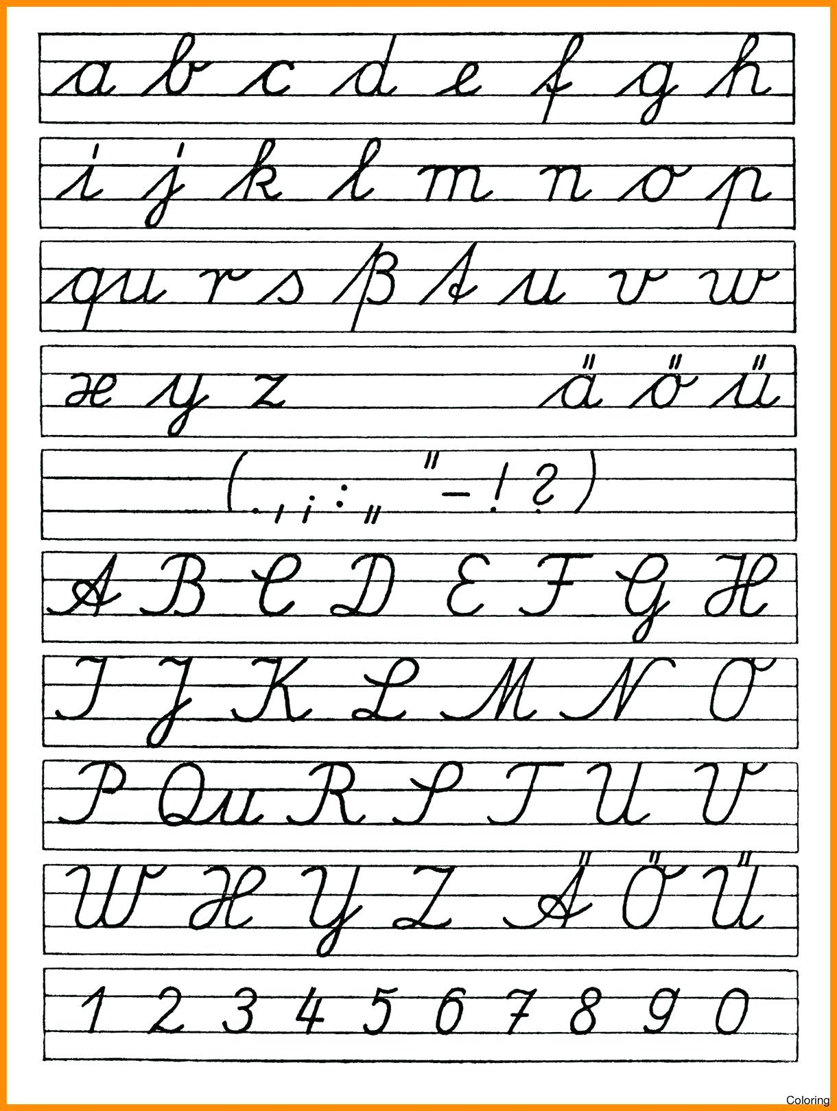 Free Cursive Writing Worksheets For 5th Grade