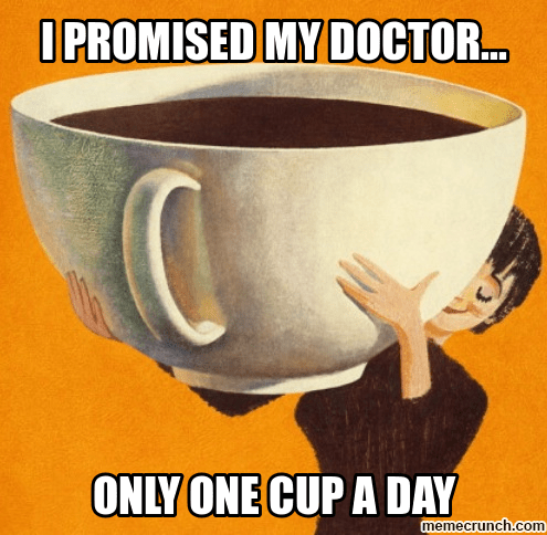 Mengatasi kecanduan minum kopi.