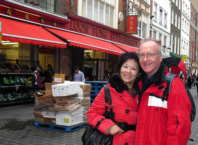 Yvonne first time in London - China Town