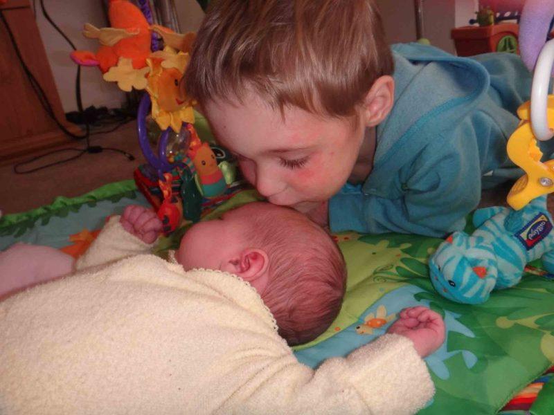 https://www.writteninwaikiki.com/three-becomes-four-dealing-new-sibling/ kids siblings baby toddler