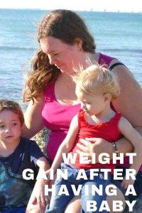 https://www.writteninwaikiki.com/wp-content/uploads/2018/06/weight-gain-after-having-a-baby  mum with kids at beach Point Peron Rockingham Western Australia