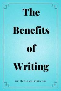 benefits of writing pinterest blue background