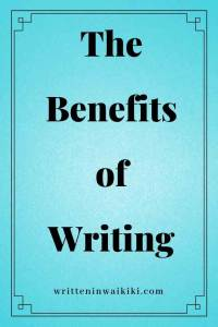 benefits of writing pinterest blue background