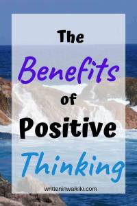 the benefits of positive thinking pinterest