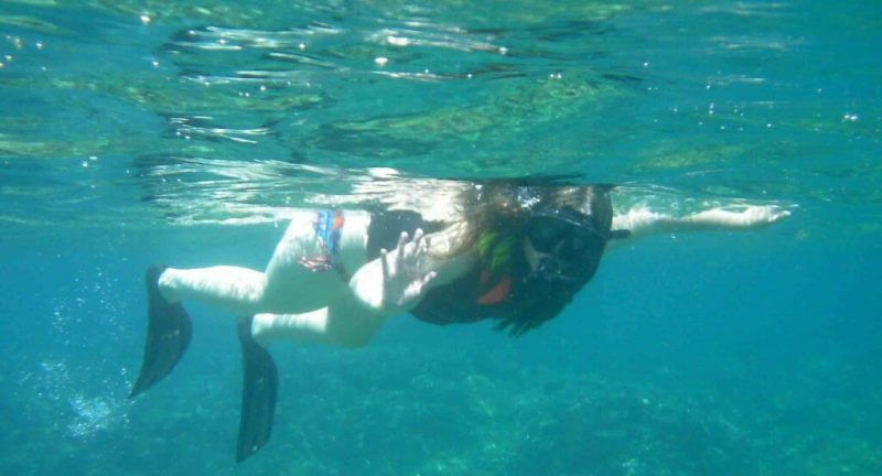 reverse bucket list woman snorkelling