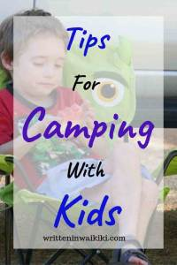 Tips for Camping With Kids pinterest