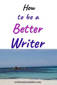 how to be a good writer pinterest beach