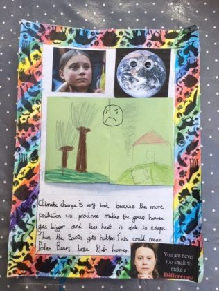 Gretchen's climate change poster