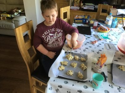 Lincoln making rock cakes