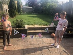 Oliver and Ben's VE Day bunting