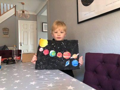 Max's solar system artwork
