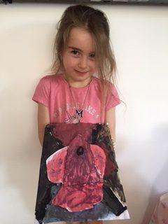 Mia's rocket artwork