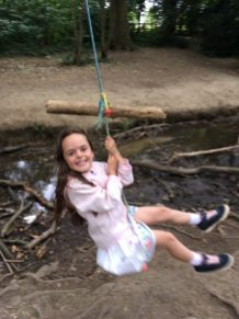Jess on the rope swing