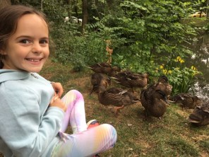 Jess with the ducklings